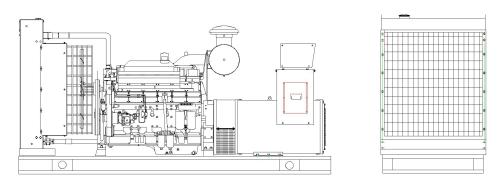 500kw 625kva wuxi diesel power generator set