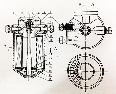 fuel filter assembly section