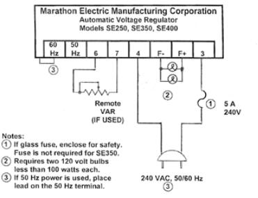 Marathon Generator SE350 Voltage Regulator Instruction ManualStarlight Generator