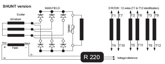 wiring diagram generator leroy somer low voltage alternators 4 pole Stamford Newage Wiring Diagrams