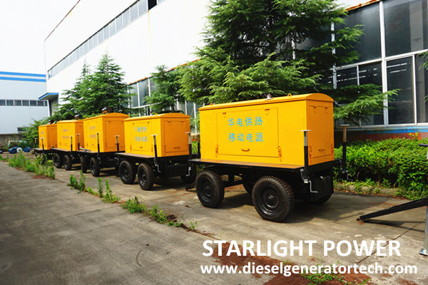 mobile trailer genset