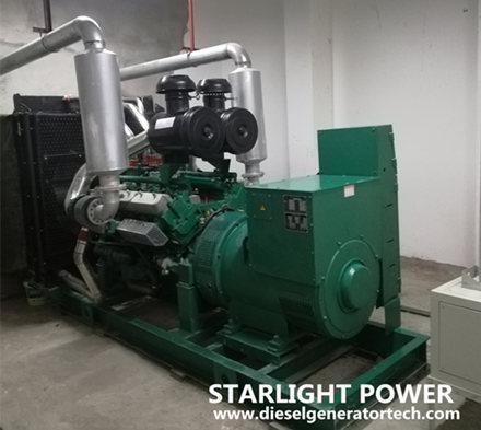 Open type generator in machine room