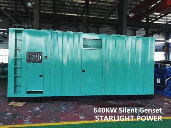 640KW silent generator
