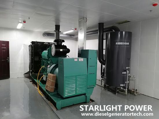 diesel genset in machine room