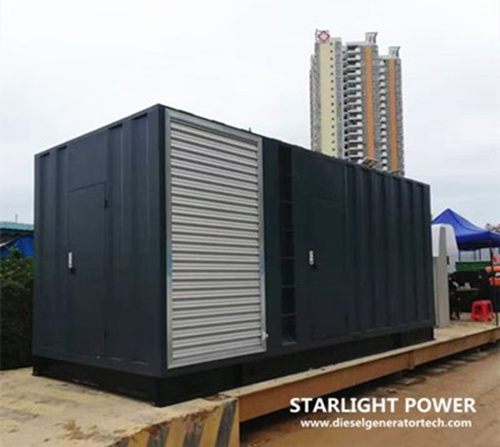 Soundproof container genset outdoor use