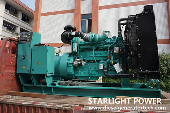 Cummins diesel generator with electronic fuel injection