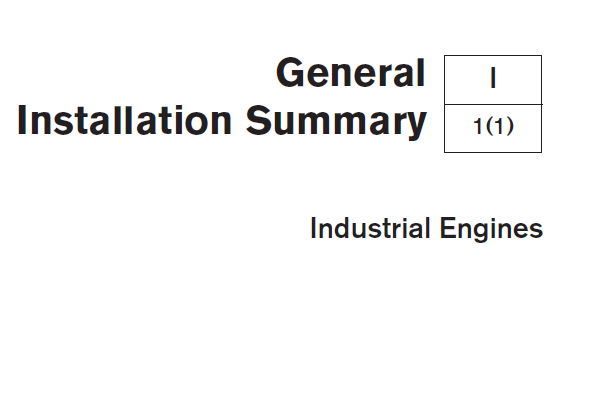 General Information of Volvo Industrial Engines