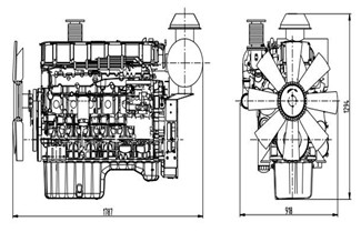 Shangchai Diesel Generator SC12E460D2 Technical Data