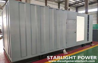 Export 600KW Cummins Container Silent Diesel Generator to Ethiopia
