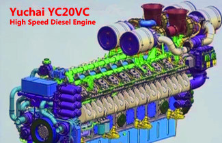 Yuchai Developed High Speed Diesel Engine YC20VC for Power Generation