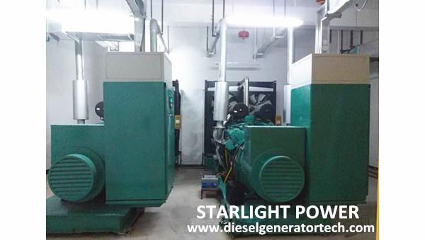 2 Units 1000KW Ricardo Diesel Generators Used in Hospital
