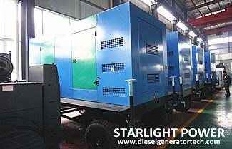 Starlight Won the Bid for 500KW Cummins Silent Diesel Genset of the PLA