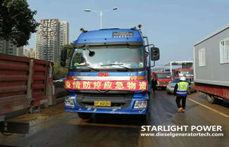 Starlight Emergency Generators Used in Wuhan Huo Shen Shan Hospital
