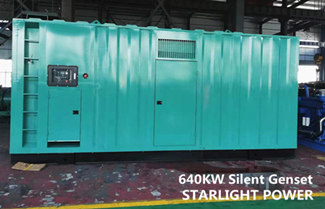 Starlight Power Won the Tender of 640KW Silent Generator