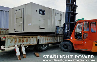 Export 500KW Cummins Silent Containerized Generator Set to Saudi Arabia