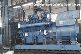 Starlight 2500KVA Diesel Power Generator Introduction