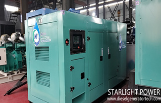 Starlight 4 Sets 220kw Cummins Silent Genset Exported to Singapore