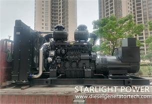 Starlight Power Signed 450KW Shangchai Diesel Generator Set